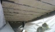 Напыление ппу на нижнее перекрытие балкона