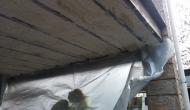 Утепление нижнего перекрытия балкона напылением легкого пенополиуретана