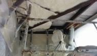 Верхнее перекрытие (кровля) балкона - напыляем пенополиуретан