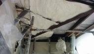 Верхнее перекрытие балкона, утепляем ППУ