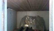Бетонная кровля гаража под напыление пенополиуретаном