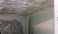 Напыление ППУ на бетонные плиты кровли гаража