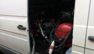 Оборудование для нанесения ППУ в автомобиле