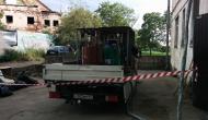 Автомобиль с установкой для напыления пенополиуретана