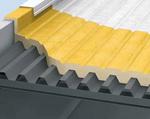 Теплоизоляция пенополиуретаном (ППУ) промышленных плоских крыш из профнастила