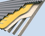 Наружная теплоизоляция пенополиуретаном крыши над балками